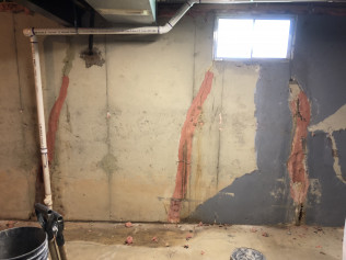 Before Wall Repair